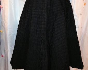 SALE Vintage 1950s Black Pleated Skirt Poodle Skirt