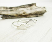 Sterling Triangle Ring. Small Silver Ring. Sterling Ring. Stacking Rings. Simple Slver Band. Midi Ring. Oxidized Silver.