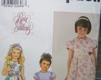 Simplicity 8610 Girl's Sewing Pattern, SALE Child's Dress with Flared Skirt, Flower Girl, Party Dress, Special Occasion, Easter Dress