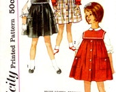 Simplicity 4118 Vintage Sewing Pattern - Child Size 6 Jumper and Blouse
