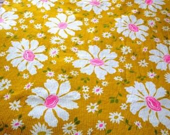 Fab Mid Century Vhy Hawaiian Textiles Mod Flower By