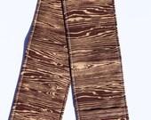 DSLR Camera Strap Cover- lens cap pocket and padding included- Woodgrain