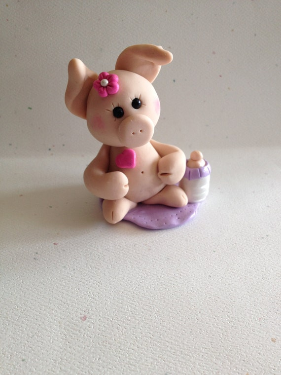 Cake Toppers For Baby Shower Uk : Cake Topper New Mom Pig Gift Baby Shower Cake Topper