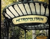 Le Metropolitain - Fine Art Print - From Paris With Love - Romantic City - Parisian Collection - TFTeam