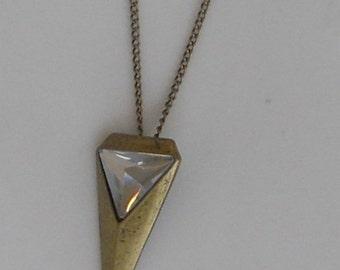 SALE--Rhinestone Triangle Necklace