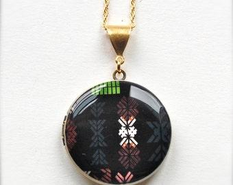"Art Locket Alyson Fox ""Stencil"" Necklace"