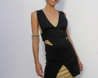 Black Evening dress- Midi length black dress-Saddu dress-Bridesmade dress-Gown -Made to order