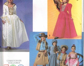 Marie Antoinette Gown Dance Hall Girl Dress Misses Simplicity 7471 Sewing Pattern Size 6 8 10 12 14 16 18 Bust 31.5 32.5 34 36 38 40