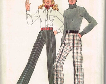 Misses High Waisted Cuffed Pants Sewing Pattern Simplicity 5327 Front Zippered Womans Size 14 Waist 28