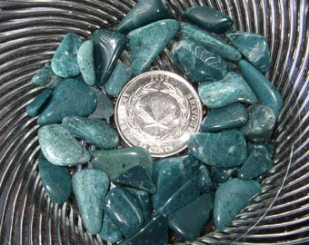 Newfoundland Labrador Chrysocolla Gemstones Tumbled Polished Blue Green Jewelry Mosaics Crafts Rock Art