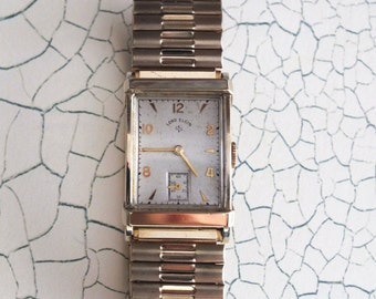 Vintage 1947 Lord Elgin 14K Gold Filled Wrist Watch by avintageobsession on etsy...20% Discount