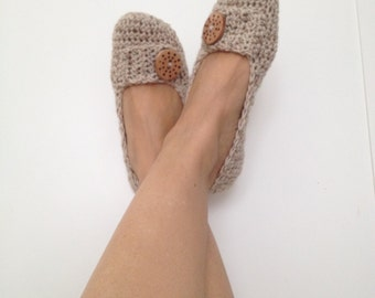 Slippers, Crochet Womens Slippers,Wool Slippers, House Shoes