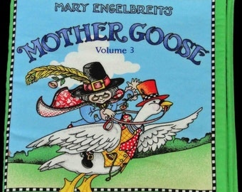 Mother goose, soft book, cloth book,children, nursery rhymes.