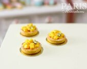 Mango Tartlet - Miniature French Pastry in 12th Scale
