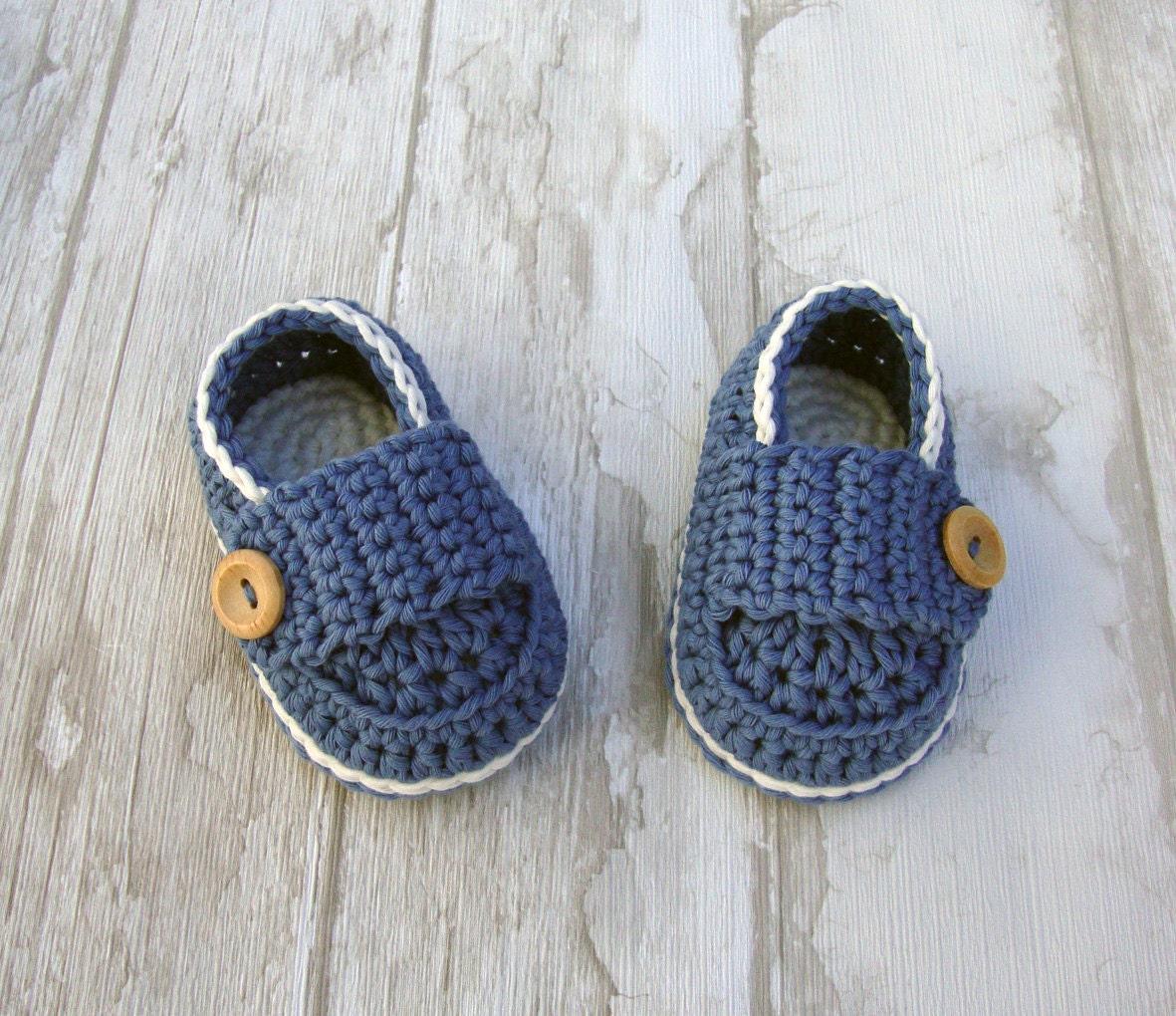 babyschuhe jungen h keln socken blau denim off white. Black Bedroom Furniture Sets. Home Design Ideas