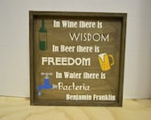 I choose wisdom & Freedom Wood Sign MADE TO ORDER