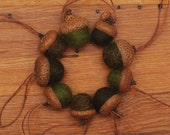 Green Felted Acorn Ornaments, Set of 9, also available without hangers
