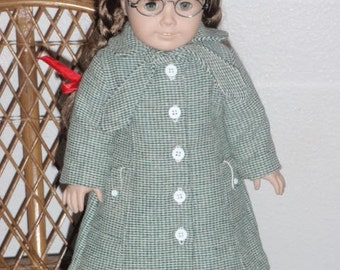 1930s 1940s 3 Pc Outerwear Wool Coat Scarf Beret for American Girl Molly Emily Kit Ruthie 18 inch doll