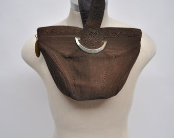 vintage purse 1950s CORDE bag handbag clutch 50s distressed