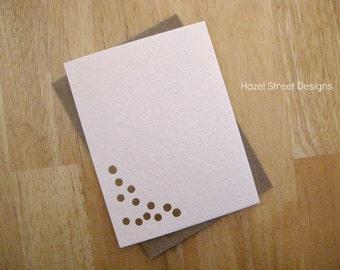 Gold Confetti on Blush Card
