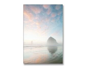 Coastal Photo on Canvas, Cannon Beach, Oregon, Gallery Wrapped Canvas, Large Wall Art, Landscape Photo