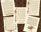 PERSONALIZE THIS - 8x10 Antique Hymn or Calligraphy Art Print Natural Parchment Sepia Brown Ink Or Colors Available Sheet Music Name Baby