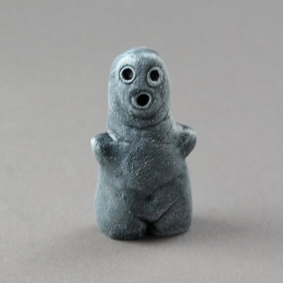 Little spook halloween figure one of a kind handmade art ghost