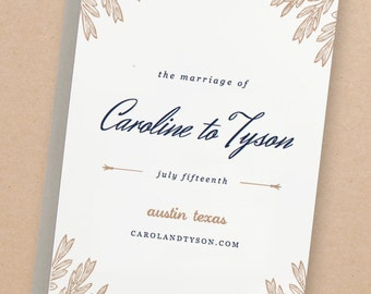 Printable Wedding Invitation Template | INSTANT DOWNLOAD | Botanic | Word or Pages | Easy DIY | Editable Artwork Colors
