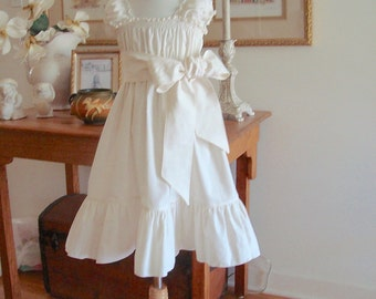 Flower Girl Dress Sister Special Occasion  Size 6m to 16 Choice of Colors Juvie Moon Designs