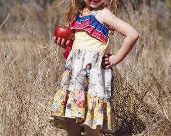 Snow White Costume Dress Disney Halter Dress Enchanted Vacation Cruise Dress