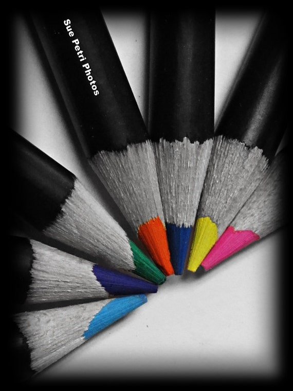 Black and White Photography with selective color hand colored