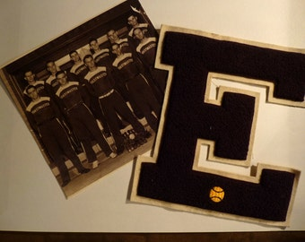 Elgin, IL  Toastmaster Baseball Team Photo cira 1950s.  Also Letterman's E Elgin High School.