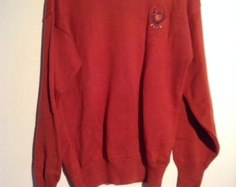 Vintage Cape Isle Knitters Sweater, Men's Pullover Cotton Sweater, size M.  New Old Stock.  Made in USA.  Vintage.