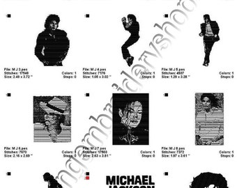 INSTANT DOWNLOAD - Michael Jackson - embroidery designs
