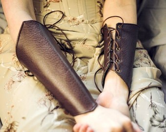 Custom Bracers Made to your Size | Fantasy | Fairytale | Steampunk | Gothic | Dungeons and Dragons | Larping | SCA | Lace Up | Corseted