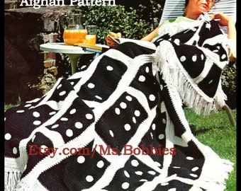 Crochet Domino Afghan Pattern - Game Lover Afghan - PDF 07282132