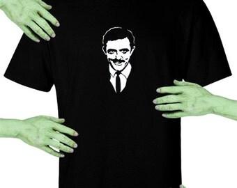 Voodoo Sugar Gomez Addams #2 Men's / Unisex Black t-shirt Plus Sizes Available