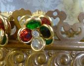 austrian crystal flower earrings in bloom