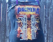 PANTERA Tour Shirt Tunic Halter Tube Top XXL-XXXL Handmade Plus Size Band Gear Glam Upcycled Reclaimed Eco Friendly