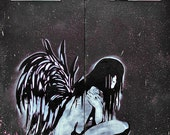 Last Exit - Graffiti Angel Spraycan Street Art Photography - Signed Limited Edition Prints in a Range of Sizes and Mounting Options