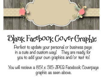 Blank Facebook Timeline Cover Graphic Instant Download