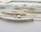 GOLD Nameplate Bracelet, GOLD Bar Bracelet, Engraved Bracelet, Personalized, Bracelet, Long Bar Bracelet