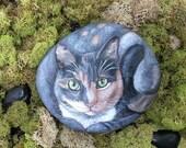 Custom Pet Portrait ROCKS, 6 inch stone, Painted Rocks- by Shelli Bowler