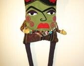 Frida Kahlo Pillow Doll Original