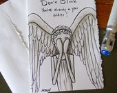 Doctor Who Birthday Card - Weeping Angel - Don't Blink