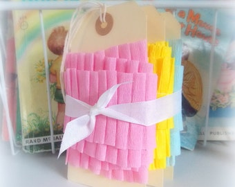 Ruffled Crepe Paper Garland Trio / Spring Pastels / Party Decor