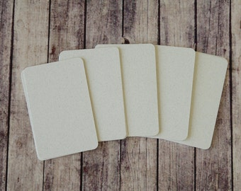 50pc Mottled CHALK Rustic Series Business Card Blanks