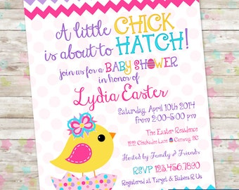 Easter Baby Shower Invite, A Little Chick, Easter Egg Baby Shower Invitation, Spring Baby Shower, Invitation Printable, Easter Egg Invite
