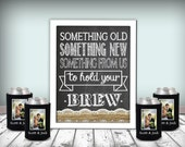 Beer Koozy Wedding Sign Chalkboard Printable 8x10 PDF Instant Download Burlap & Lace Rustic Shabby Chic Woodland