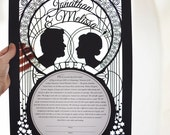 Voeu Imperiale - Personalizable Wedding Vow Poster